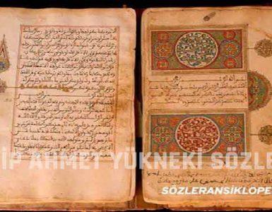Edib Ahmet Yükneki Sözleri