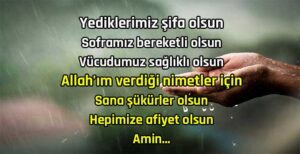 Resimli Kısa Türkçe Yemek Duası