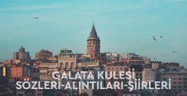 Galata Kulesi ile İlgili En Güzel Sözler